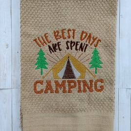The Best Days are Spent Camping – 3 sizes- Digital Embroidery Design