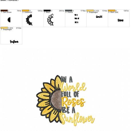 Be a Sunflower 4×4