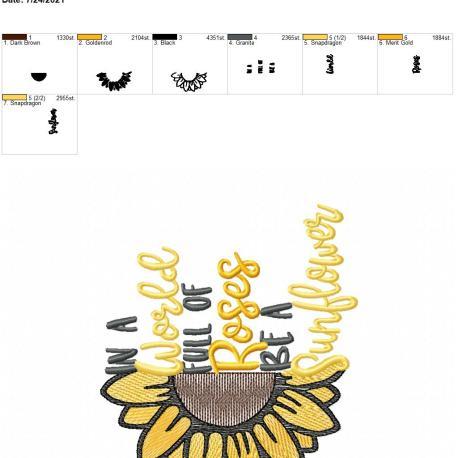 Be a Sunflower 5×7