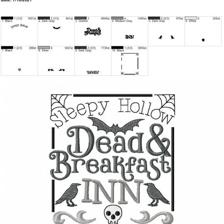 Dead and Breakfast 5×7