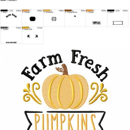 Farm Fresh Pumpkins 6×10