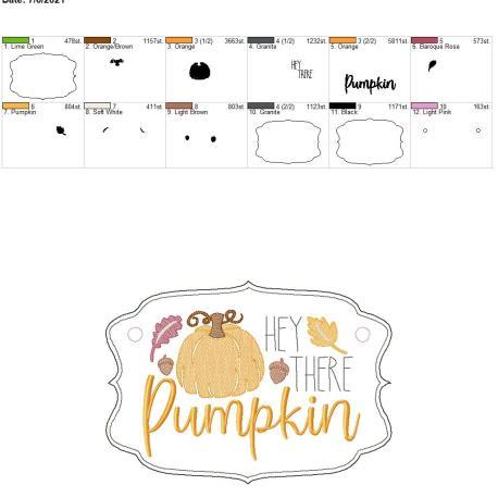 Hey there pumpkin door sign 8×12
