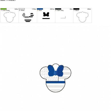TBL Miss Mouse eyelet 4×4