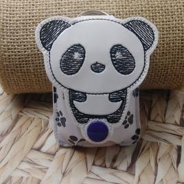 Kawaii Panda Applique Fold Over Sanitizer Holder 5×7- DIGITAL Embroidery DESIGN