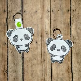 Kawaii Panda Fobs – DIGITAL Embroidery DESIGN