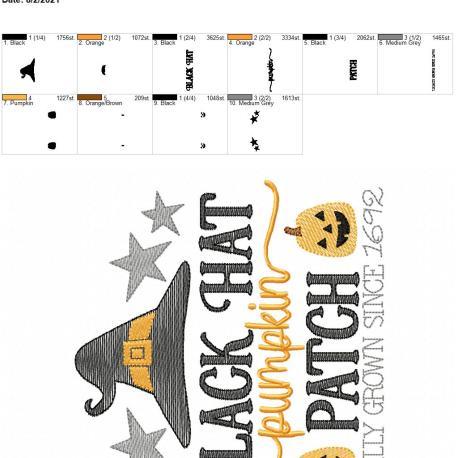 Black Hat pumpkin patch 6×10