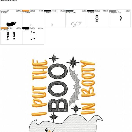 Boo in booty 5×7