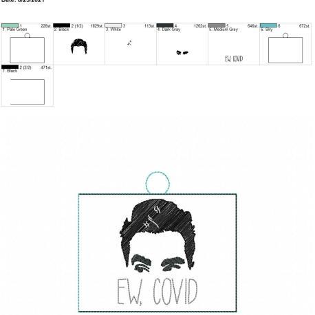 Ew Covid Vaccination Card holder Eyelet 5×7