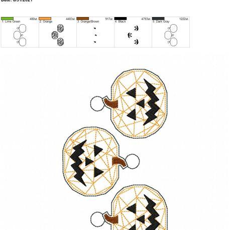 Geometric jack o lantern eyelet 5×7 grouped