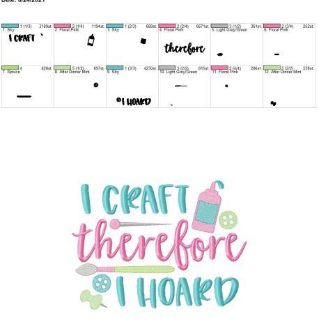 I Craft therefore I hoard 8×12