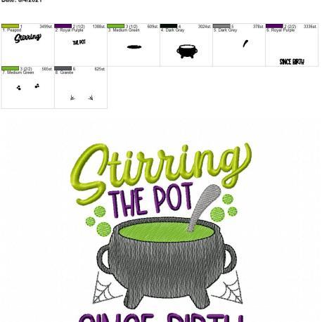 Stirring the pot 5×7