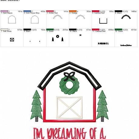 farmhouse christmas 5×7