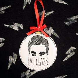 Eat Glass Ornament – Digital Embroidery Design