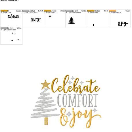 Celebrate comfort and joy 8×12