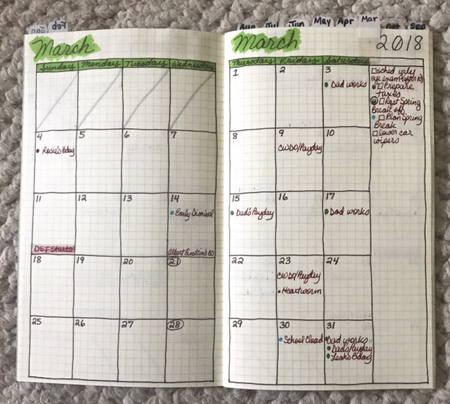 planner, planner setup, on-the-go planner, month on 2 pages, b6 slim