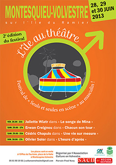 L'île au théâtre 2013 - Affiche