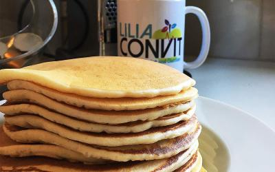 Fluffy home made pancakes