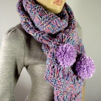 I Love PomPoms Scarf