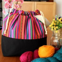 Knitting Project Bag - Andina Collection - Design #5