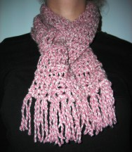 Pink DenimStyle Scarf