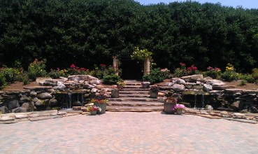 Rose Garden Arbor and Ponds...A good place for a wedding!
