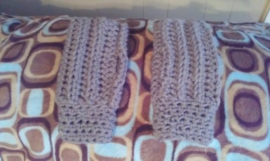 Gray Men's Fingerless Gloves