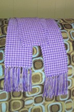 Lavender and White Houndstooth