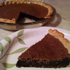 Same Chocolate Chess Pie (in my in-law's kitchen)