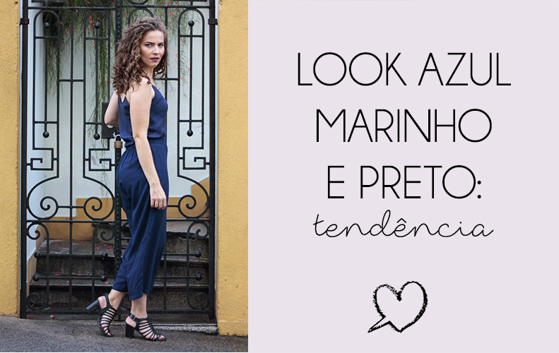 Capa do post sobre o look azul marinho e preto