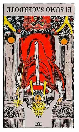 Sumo Sacerdote o Papa en el Tarot