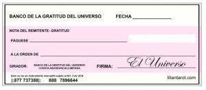 cheque de la abundancia en luna nueva