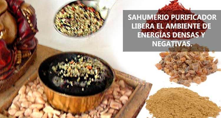 Sahumerio purificador para liberar el ambiente de energías densas