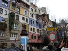 Visit one of Hundertwasser's many quirky buildings