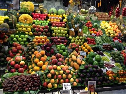 Everything looks so delicious from Mercado de La Boqueria