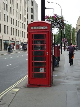 Phone booth near Scotland Yard