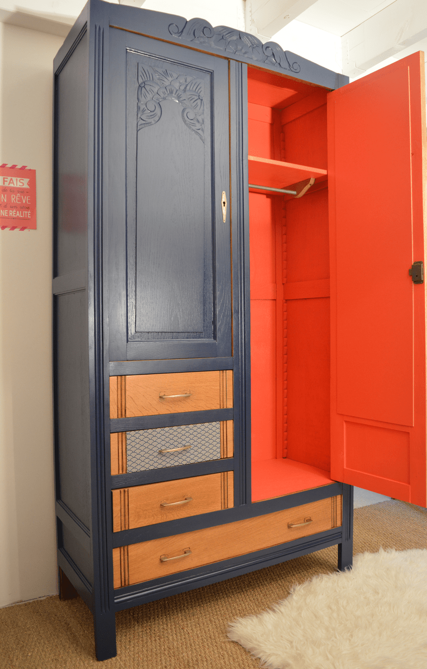 Armoire vintage Malle  Relooking de meubles  Lilibroc