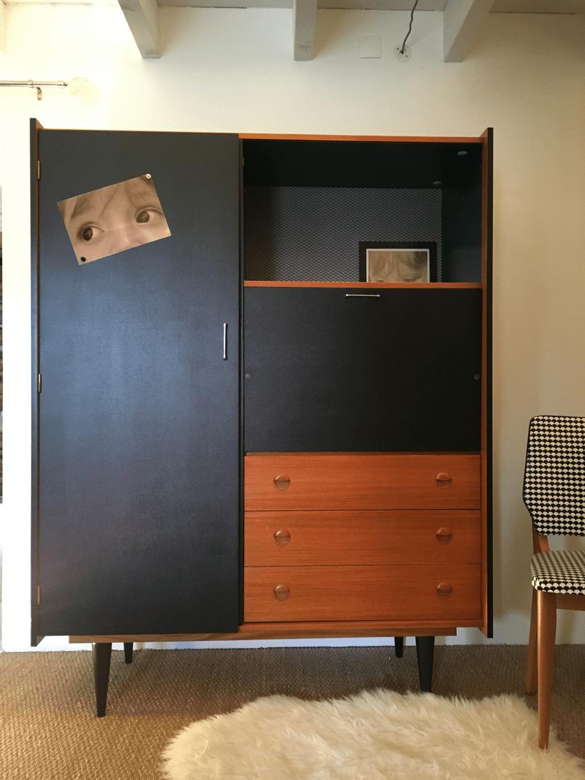 Secrtaire vintage Achille  Relooking de meubles  lilibroc