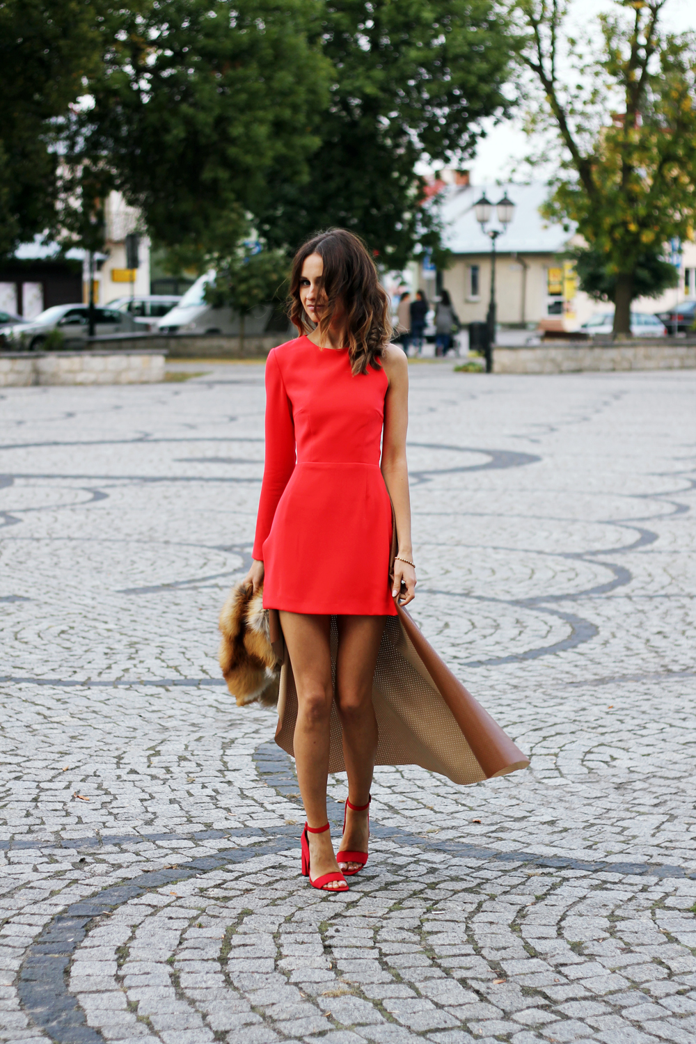 red dress original chic outfit clothes tumblr girl vogue lookbook ootd party look lilis