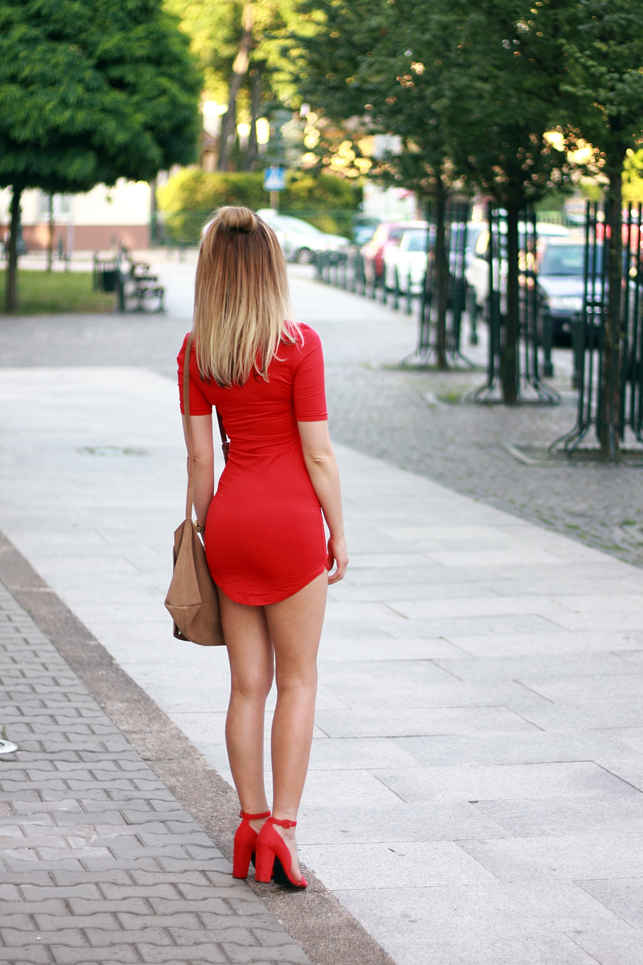 street style fashion red dress blonde pretty girl tumblr ootd outfit lookbook look what to wear clothes