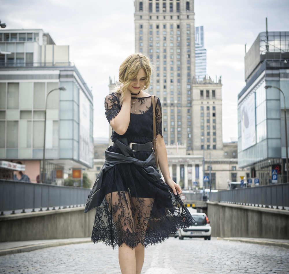 black lace dress casual chic street style fashion blonde tumblr girl look it girl lookbook ootd what to wear