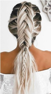 braids inspiration tumblr pinterest hairstyle fishtail braid inspo long blonde hair girl
