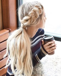 braids inspiration tumblr pinterest hairstyle side braid inspo long blonde hair girl 77
