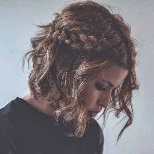 Braids Inspiration Tumblr Pinterest Hairstyle Side Braid Inspo Short