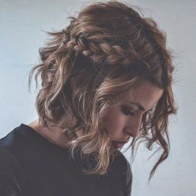 braids inspiration tumblr pinterest hairstyle side braid inspo short curly hair girl