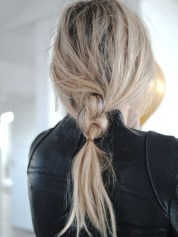 messy braid tumblr pinterest blonde girl hairstyle