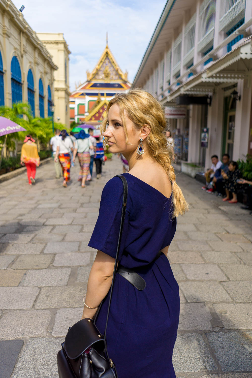 golden city in Thailand, Bangkok, blonde girl style