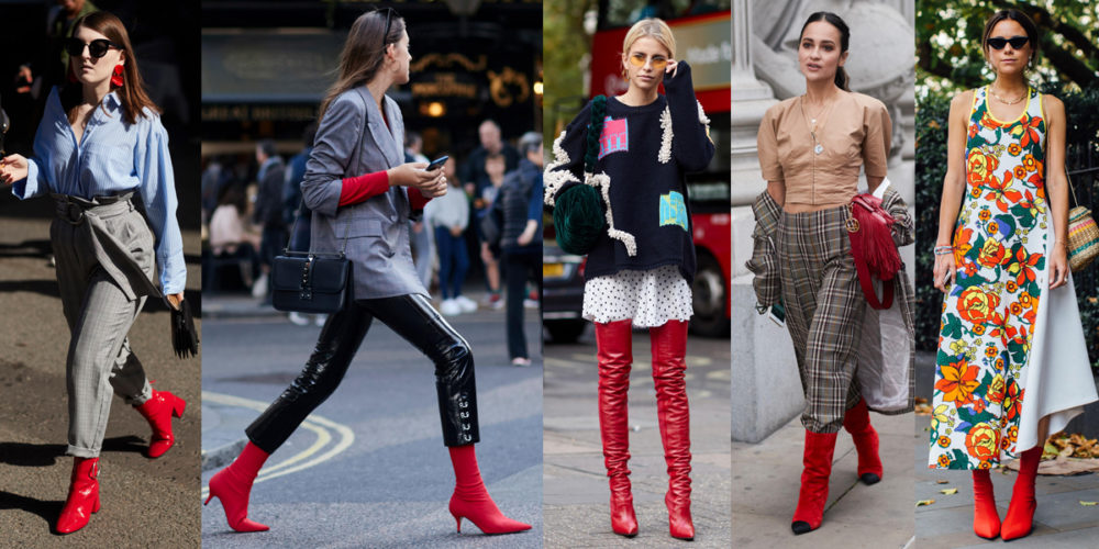 all red outfits fashion week fall 2017 best street style
