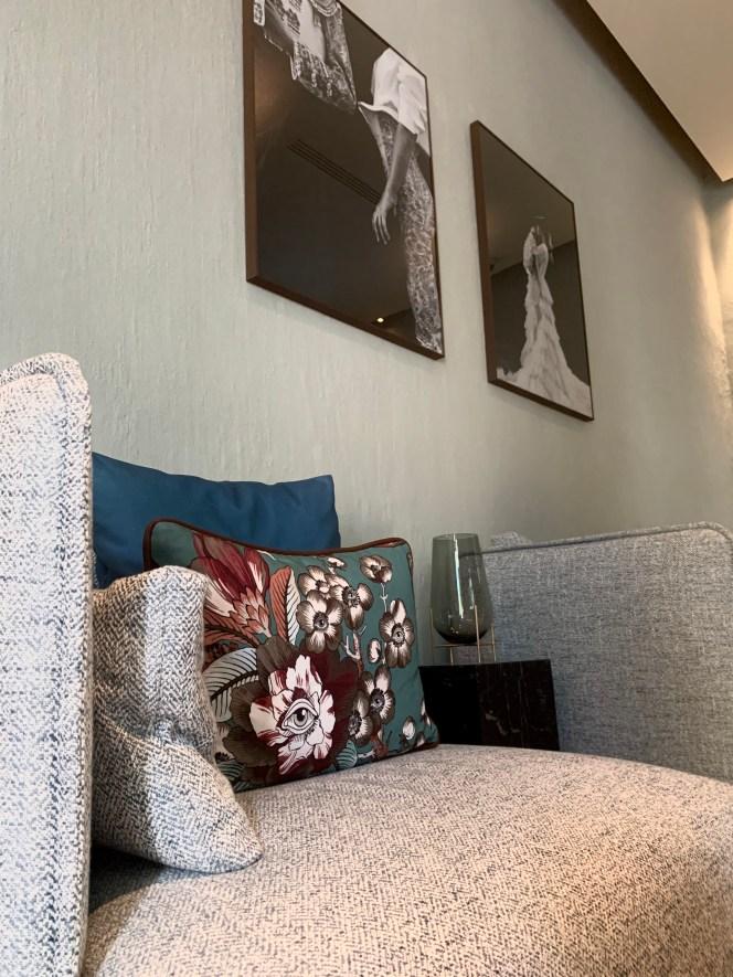 Photo noir et blanc fauteuil design lounge