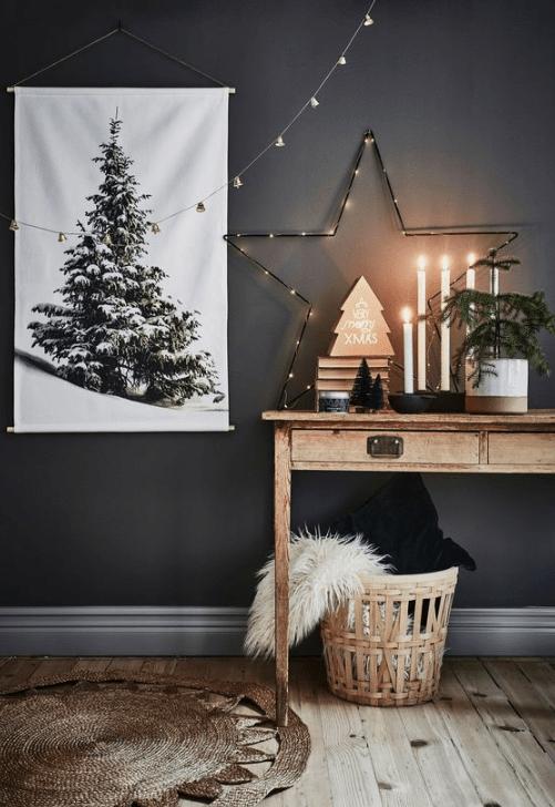 étoile bois deco Noël