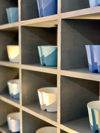 Mug café bleu céramiste sandra Gasnier